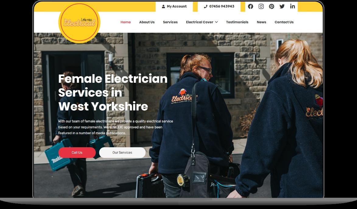 little miss electrical web design