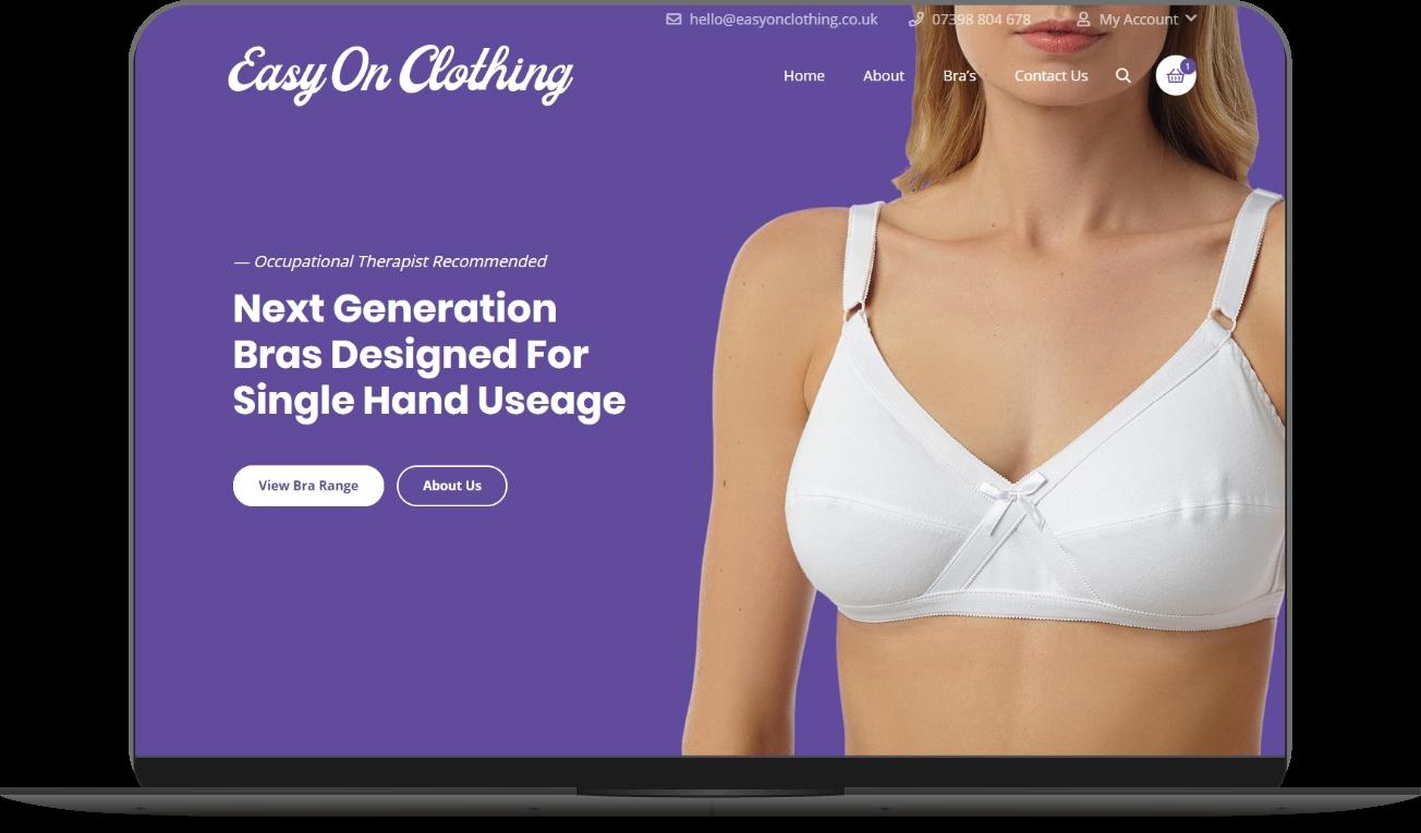 easy on clothing website mockup by athena media web design huddersfield