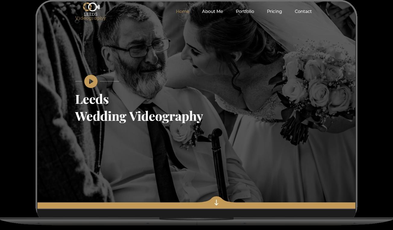 leeds videography website mockup by athena media web design huddersfield