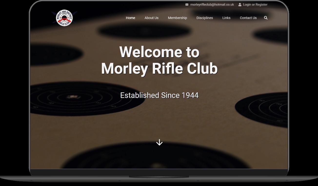 morley rifle club website mockup by athena media web design huddersfield