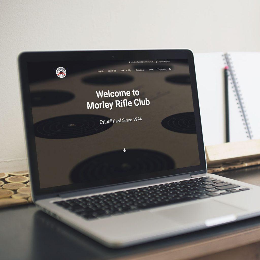 morley rifle club website project by athena media web design huddersfield