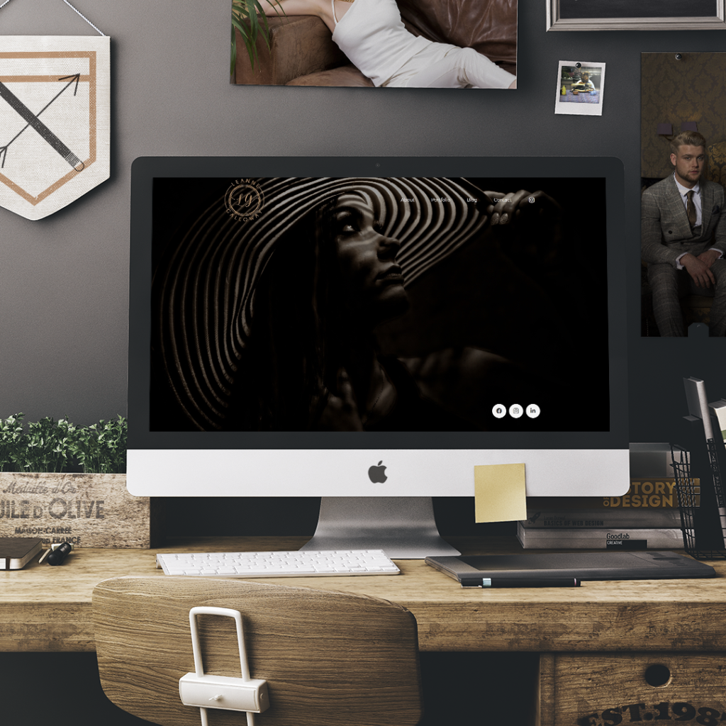 leanne galloway photography web design mockup