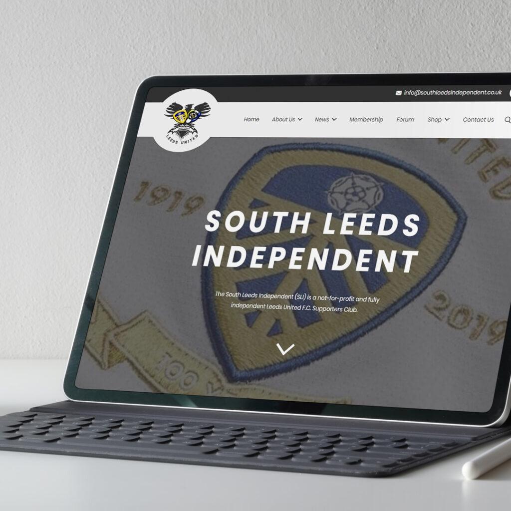 south leeds independent website mockup
