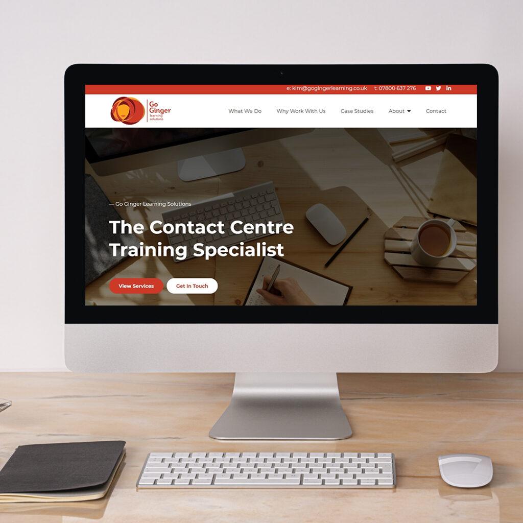 go ginger learning solutions web design