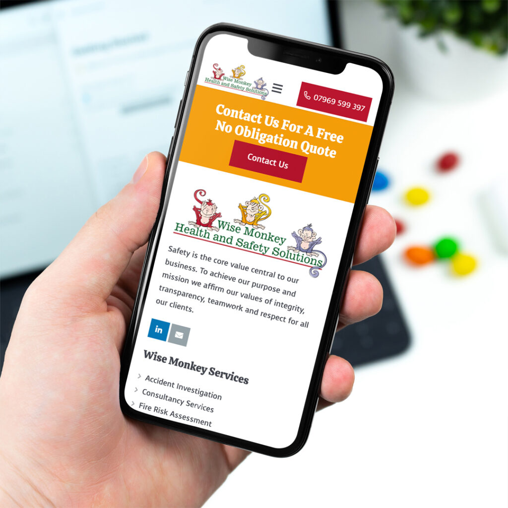 Wise Monkey Health and Safety Website Design