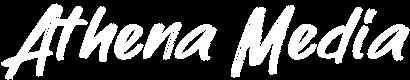 athena media logo white